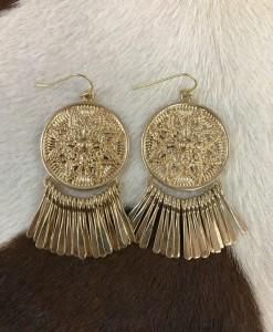 """"""" Isla """" Coin & Fringe Earrings"""