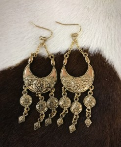 """ Amelia "" Gold Earrings"