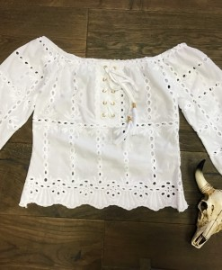 Eyelet Crop & Lace up top