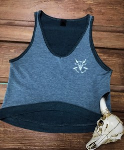 """ Free Spirit "" Crop Top ( Blue )"