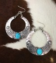 """ Katie "" Silver & Turquoise Earrings"