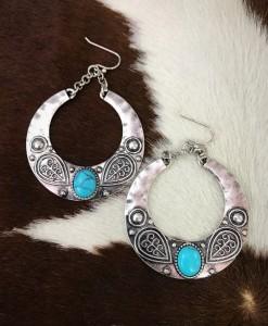 """ Katie "" Silver & Turquoise Earrings"