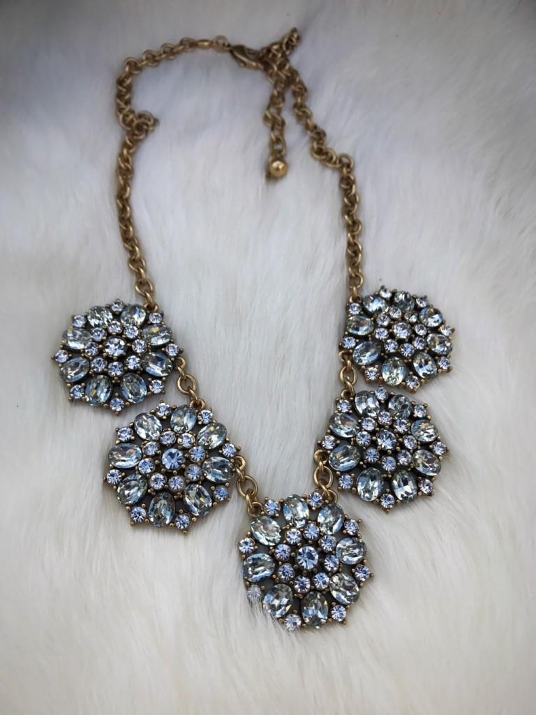 """"""" Ravie """" Crystal Statement Necklace"""
