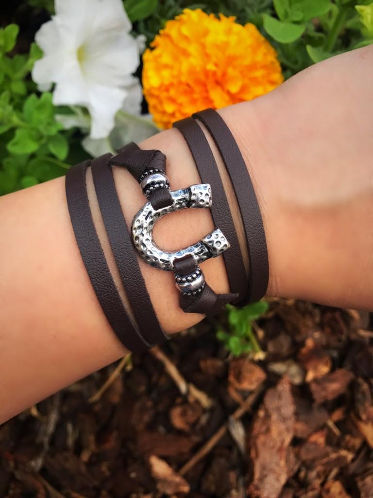 horseshoe wrap bracelet