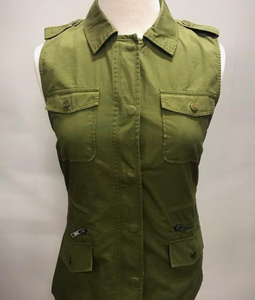 olive green vest