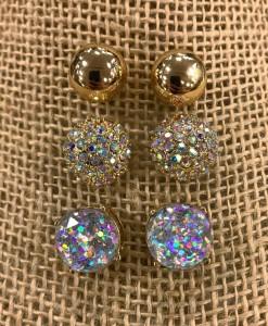 """"""" Jennifer """" Stud Set Earrings"""