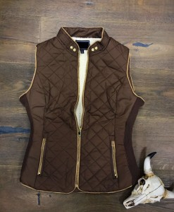 quilted shearling vest