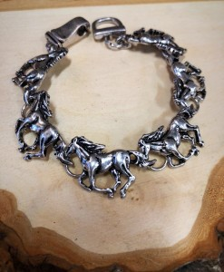 Running Horse Bracelet ( Antique Silver  02 )