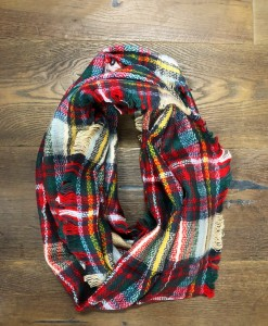 PLAID SCARF WOMENS