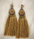 """"""" LETY """" Floral & Tassel Earrings"""