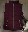 """ Be Cool "" Detachable Hood  Vest ( Burgundy )"