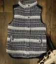 Aztec Pattern Vest ( Navy Blue )