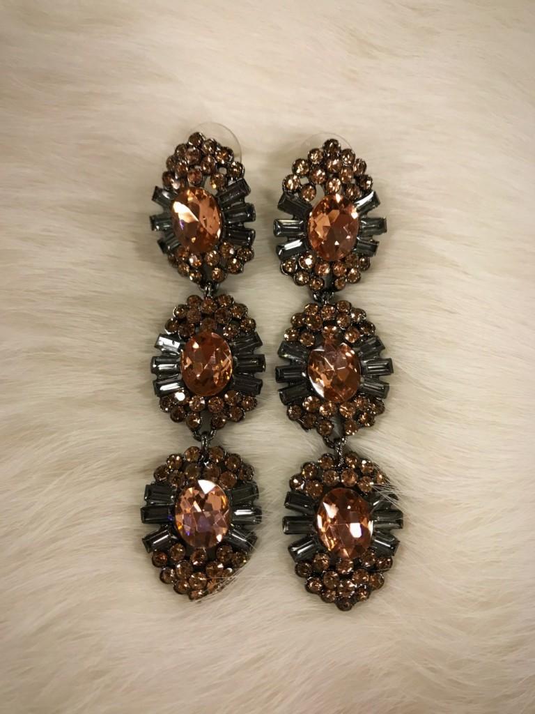 """ Georgina "" Crystal Fashion Earrings"