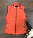 quilted vest color rust