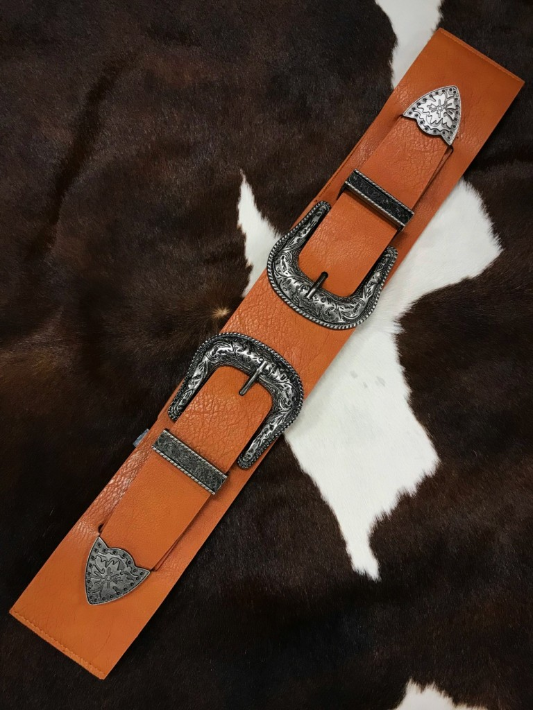 DOUBLE BUCKLE STRETCHY BELT