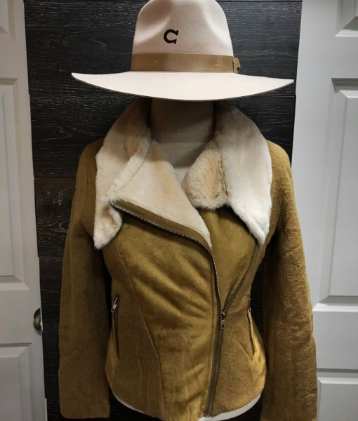 """ Highway "" Womens Jacket ( Tan )"