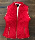 womens quilted & Faux Shearling Wool Vest