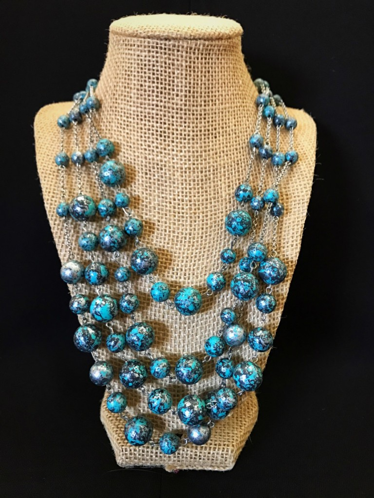 """ Smith "" Layered Necklace ( Turquoise )"