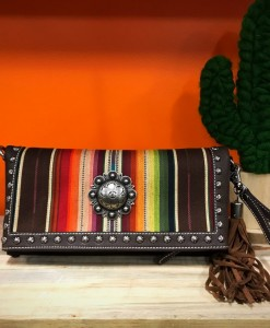 nocona multi color concho clutch