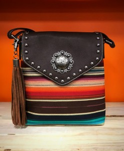 nocona multi color messenger bag