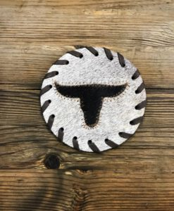 bull head coffee coaster