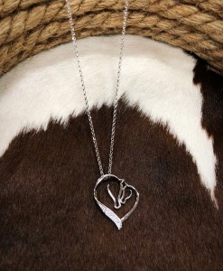STERLING SILVER DIAMOND HORSES
