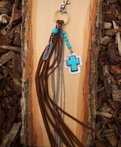 turquoise keychain