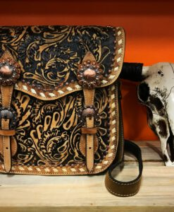 NOCONA FLORAL TOOLED BAG