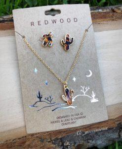 cactus necklace set