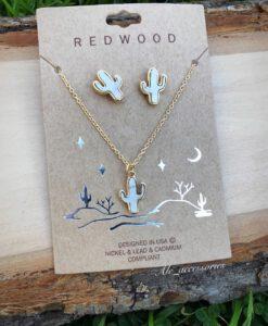 Redwood - Cactus Necklace Set ( White )