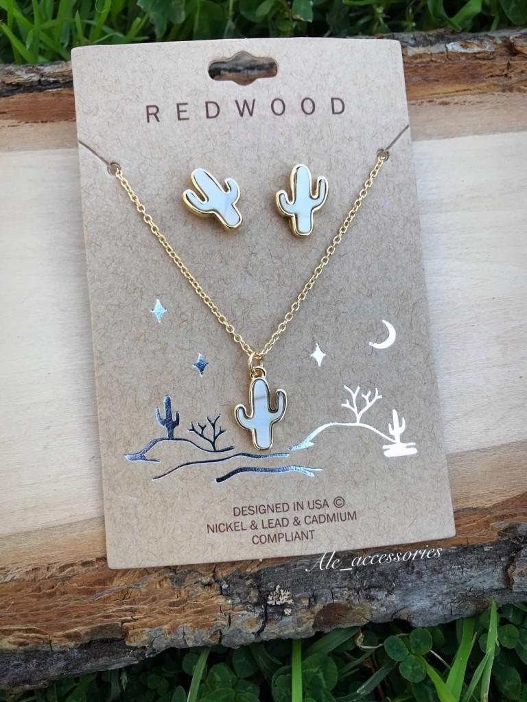 Redwood – Cactus Necklace Set ( White )