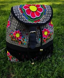 Floral Embellished Backpack.