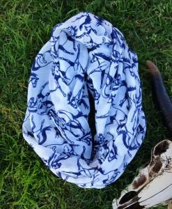 horse print scarf