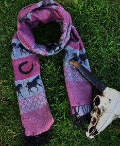 HORSE PINK SCARF