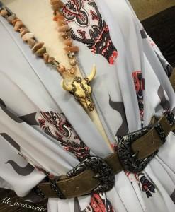 bull skull kimono