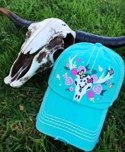 cow skull cap