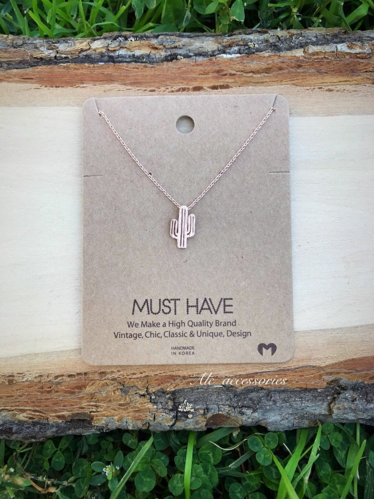 must have necklace cut out cactus