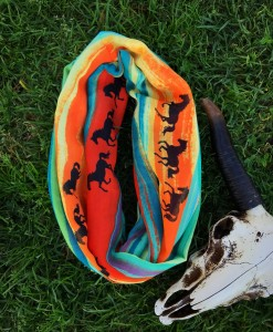 """"""" Southwestern """"  Infinity Horse Scarf ( Colorful )"""