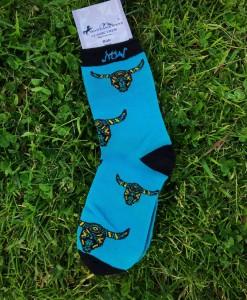 turquoise steer head sock