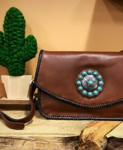 TRINITY RANCH LEATHER PURSE
