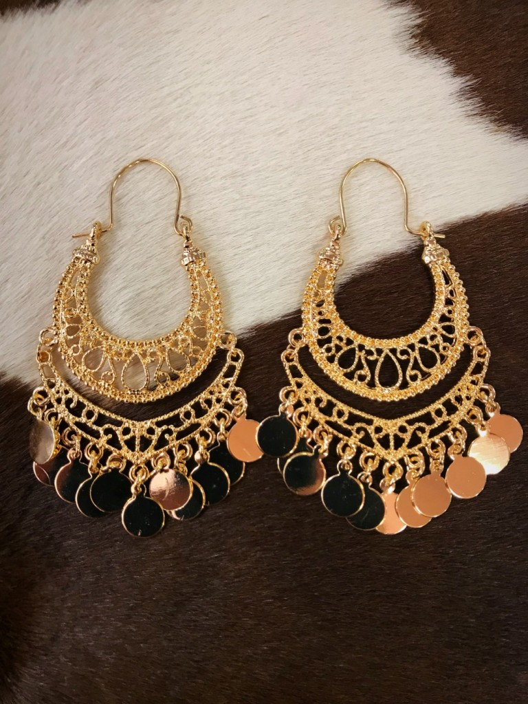 CUT OUT GOLD EARRINGS