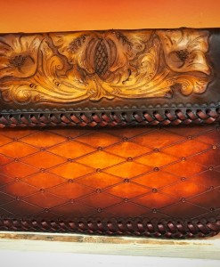 100% Leather Tooled Chain Crossbody