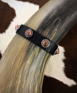 mini concho leather bracelet