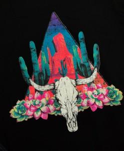 desert bull skull top