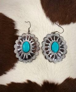 Hammered Handmade Concho Earrings