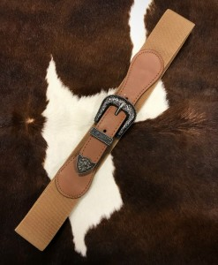 TAUPE STRETCHY BELT