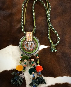 """ Boho Bull Fun "" Tassel Necklace Set"