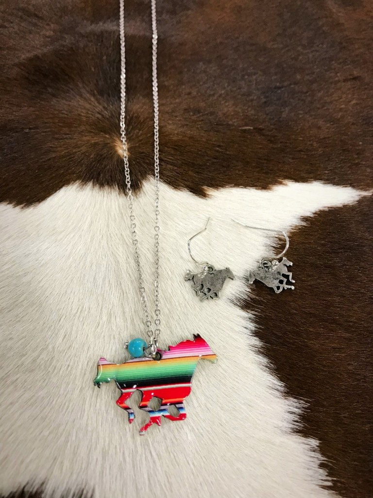 """ Zarape "" Horse Print Necklace Set"