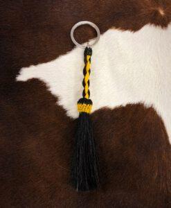 horse hair keychain