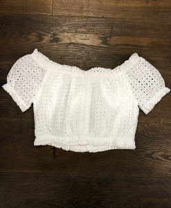 Eyelet Front Button Closure